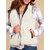 Mulheres Sólidos Turn-down Collar Thick Vest Jacket
