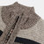 Mens Woolen Knitting Stand Collar Patchwork Thick Casual Jacket