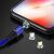 USLION 3A LED Rotação de 360 graus QC3.0 Carregamento rápido magnético Type-C Cabo de dados micro USB 1M para Samsung S10 + S9 Xiaomi 9T Redmi Note8 HUAWEI P30Pro