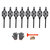 1238Pcs/Set Car Tyre Winter Roadway Safety Tire Snow Adjustable Anti-skid Safety Double Snap Skid Wheel TPU Chains