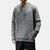 Mens Casual Cotton Crew Neck Loose Comfy Thick Sweaters
