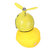 Car LED Decoration Light Little Yellow Duck Wearing Helmet Safety Warning Lights With Remote Control