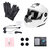 Motorcycle Dual Visor Full Face Helmet With/Without bluetooth Music Headset Gloves