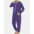 Men Casual Onesies Jumpsuit Hooded Loungewear Loose Pockets Sleepwear Home Daily Pajama Set