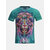 Fashion 3D Ethnic Lion Print T-shirt Men's Casual Round Neck Short Sleeve Tops Tees