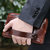 Men Genuine Leather Clutches Bag Belt Waist Phone Bag for 7 inches Phones