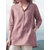 Women 3/4 Sleeve V Neck Button Down Tops Casual Loose Shirts Blouse