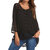 Lace Patchwork V Neck Long Sleeve Button Down Casual Blouse