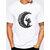 Mens Summer Creative Printed O-neck Short Sleeve Casual T-shirts