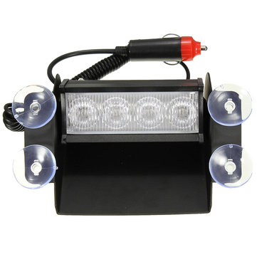 4 LED Emergency Car Wind Shield Sucker Waarschuwing Strobe zaklamp