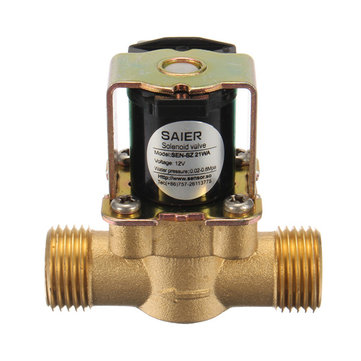 DC 12V Brass Electric Solenoid Valves 2 Way Normally Closed Valve
