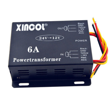 Xincol® Vehicle Car DC 24V to 12V 6A 10A 15A 20A 30A Power Supply Transformer Converter