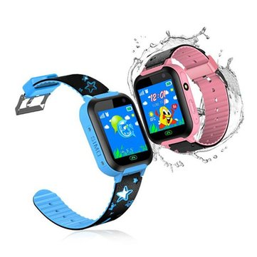 Bakeey DS37 1.44inch Touch Screen IPX7 SOS GSM LBS Location Camera Flashlight Children Smart Watch