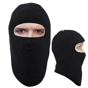 Winter Motorcycle Riding Full Face Mask Fleece Lined Windproof Neck Guard Warm Hat