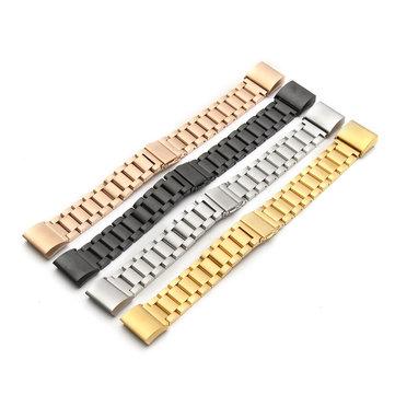 Classit Yedek Askı Fitbit Şarj 2 İzci Paslanmaz Çelik Bileklik Bileklik için