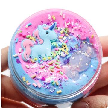 Unicorn Pamuk Çamur Balçık Çok renkli Şeker Kil Hamuru Köpük DIY Oyuncak