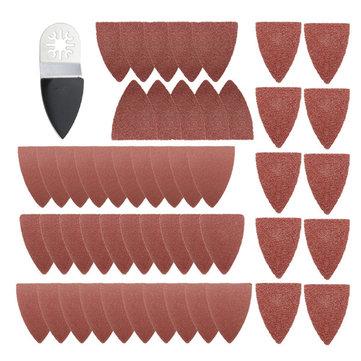 51 قطع الاصبع الصنفرة صفائح منصات ورقة مجموعة ل فين مولتيماستر بوش تتأرجح مولتيتول