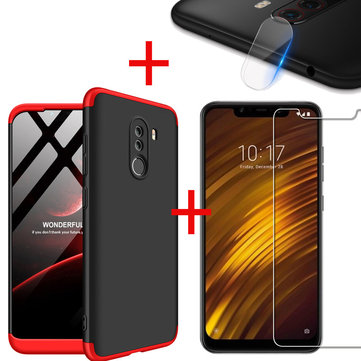 Bakeey™ Hard PC Protective Case+Tempered Glass+Lens Protector For Xiaomi Pocophone F1