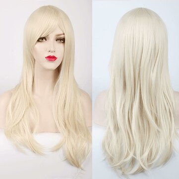 70CM Long Synthetic Costume Cosplay Wig High Temprature Fiber Hair Extensions For Women Dark Purple Hair