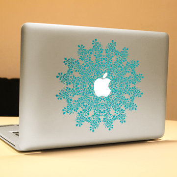 PAG Flower Ring Decorative Laptop Decal Removable Bubble Free Self-adhesive Skin Sticker