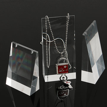 3Pcs/Set Acrylic Necklace Display Stand Transparent Jewelry Showcase Holder Long Chain Handing Organizer