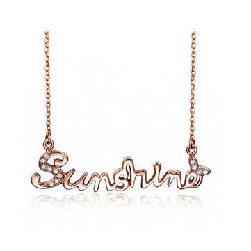 925 Sterling Zilveren Zonneschijn Letter Word Vrouwen Ketting Chain Jewelry
