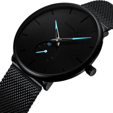 CRRJU 2150 Simple Dial Bright Needle Men Fashion Quartz Watch
