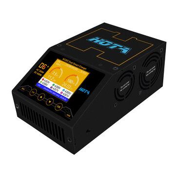 HOTA D6 + AC 300W DC 2X325W 2X15A Dual Channel Smart batterijopladerontlader
