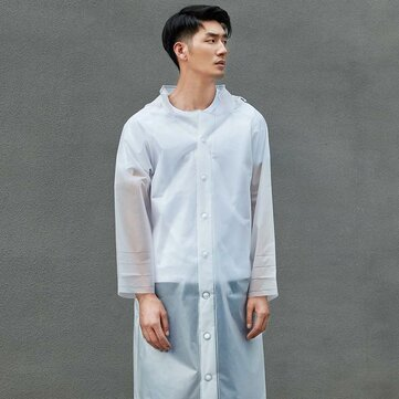 COTTONSMITH Outdoor Portable Frosted Transparent Cuttable Raincoat With Detachable Hat From Xiaomi Youpin