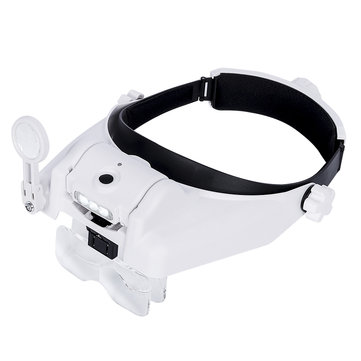 USB Rechargeable Magnifier Headband Magnifier With Illumination 3 LED Magnifier Lamp 1X 1.5X 2X 2.5X 3.5X 8X Magnifying Glass