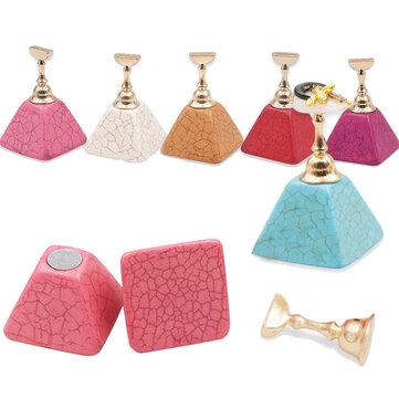 6 kleuren valse nail tips praktijk stand set base manicure tool supporter diy nail art supporter