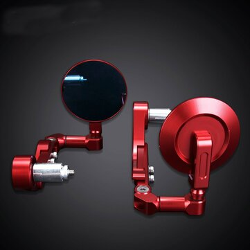 NEVERLAND 22mm 7 / 8inch Motorcycle regolabile ASIDE Bar End Mirrors Leva frizione Guard Protector