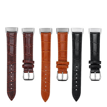KALOAD Classic Genuine Leather Wristband Strap Watch Band for Fitbit Charge 3 Smart Watch