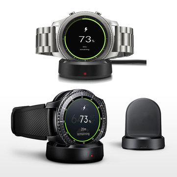 Nuevo QI Cargador de Estación de Carga inalámbrica para Samsung Gear S3 Classic / Frontier iWatch Series 3