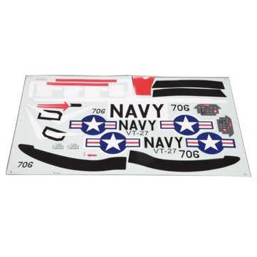 Eleven Hobby T-28 Trojan 1100mm RC Airplane Spare Part Decal Sheet