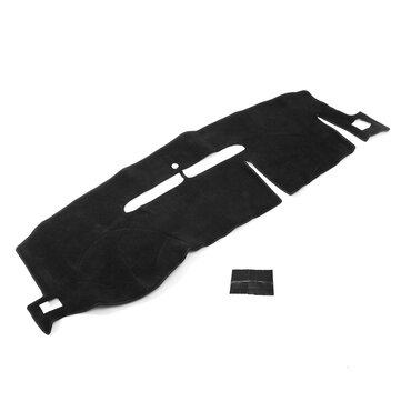 Black Felt Fabric Non-Slip Car Dash Mat Dashboard Cover Pad for Chevrolet Avalanche 2007-2013