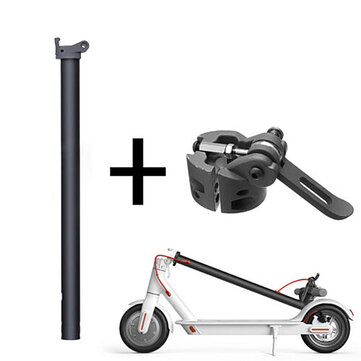 Black Folding Pole + Base Replacement Spare Parts For Xiaomi M365 Elektrische Scooter