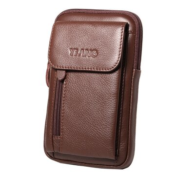 Genuine Leather 5.5-7″ Cell Phone Bag Waist Bag Crossbody Bag For Men
