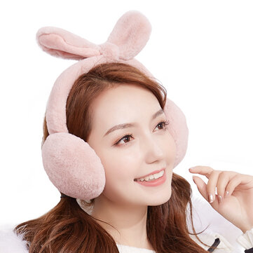 Women Girls Winter Cute Faux Fur Plush Earmuffs Washed Adjustable Ear Warmer