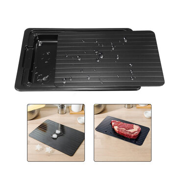 Defrosting Tray Thawing Plate Frozen Food Faster and Safer Way to Defrost Meat or Frozen Food