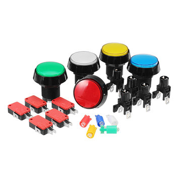 45MM Red Blue Yellow Green White LED Push Button for Arcade Game Console Controller DIY