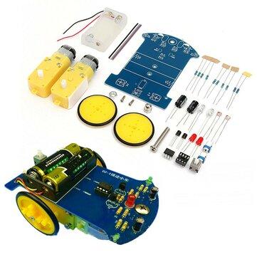 DIY Robot Intelligent de Suivi Kit de Voiture Électronique avec Moteur de Réduction Ensemble