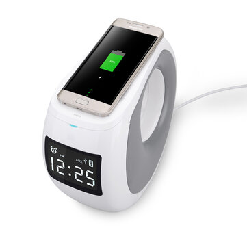 NILLKIN MC1 bluetooth 4.0 NFC QI Wireless Charger Speaker with LCD Time Display