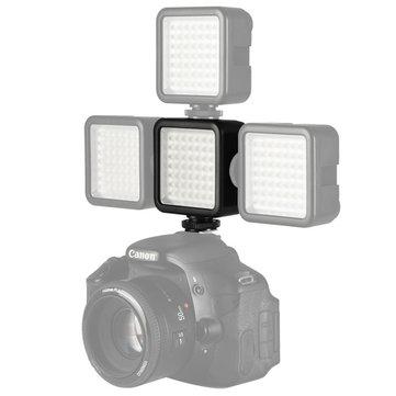 Ulanzi W49ミニカメラLEDビデオライトインターロック3ホットシューマウント
