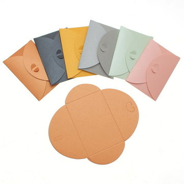 1PC 10x7CM Colorful Heart Clasp Envelopes Cute Lovely Envelopes