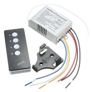 220V Draadloze AAN / UIT 3-Way Lamp Light Afstandsbediening Schakelaar Ontvanger Zender