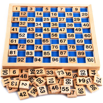 Montessori Mathematics Material Child Learning Wooden Educationa Number 1 to 100