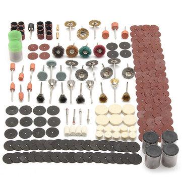 340pcs accesorio de herramienta rotativa establece ajustes para lijado pulido dremel herramienta de pulido