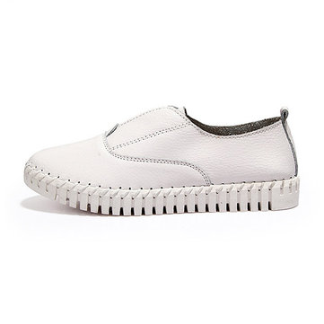 Women Spring Casual Flats Pointed Toe Soft Sole Shoes Slip On Flat Loafers