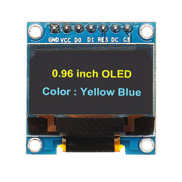 7Pin 0.96 Inch OLED Display 12864 SSD1306 SPI IIC Serial LCD Screen Module Geekcreit for Arduino - products that work with official Arduino boards